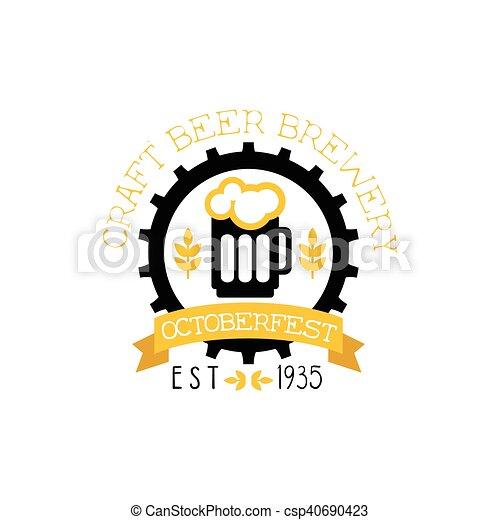 Logotipo Cerveja Desenho Modelo Quartilho Cervejaria Texto