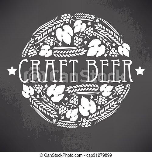 Logo de cerveza artesanal - csp31279899