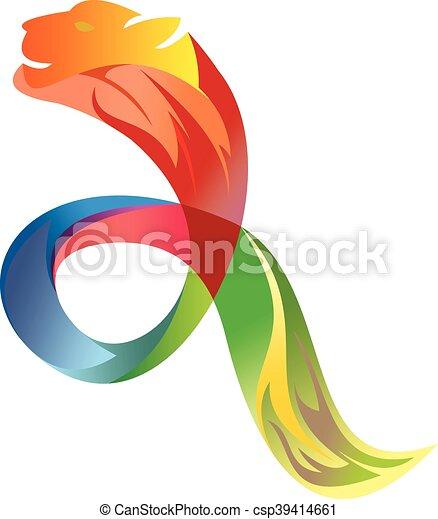 Logo colorido de guepardo - csp39414661