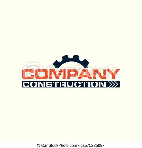 logotipo, compañía, construcción - csp75225897