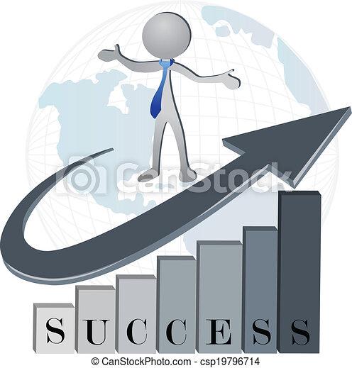 logotipo, companhia, sucesso financeiro - csp19796714