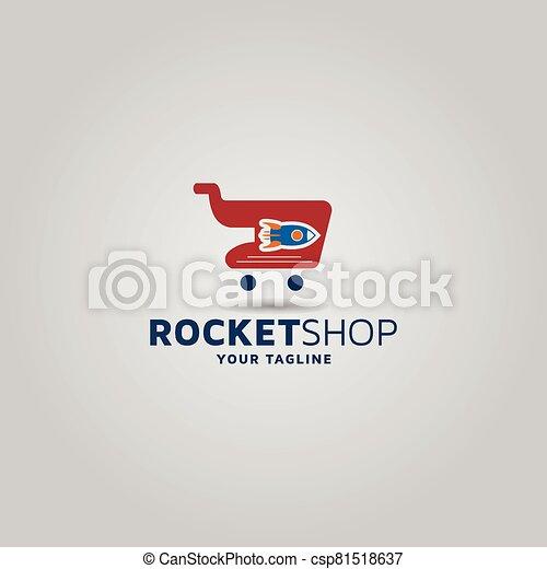 logotipo, compras, diseño, vector, plantilla - csp81518637