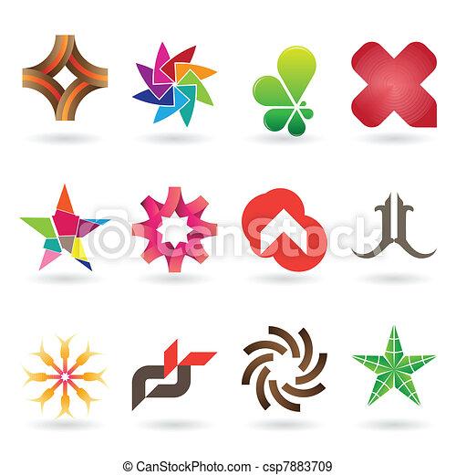 Logotipo contemporáneo y colección de iconos - csp7883709