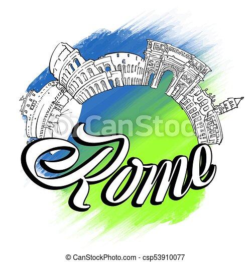 El logotipo de Roma - csp53910077