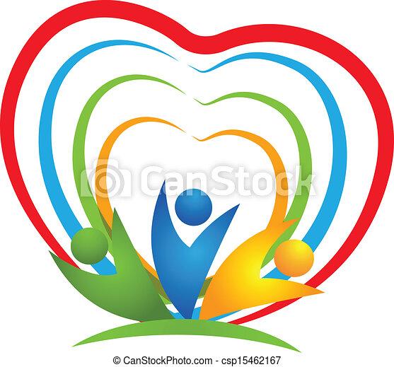 La gente tiene conexiones cardíacas - csp15462167