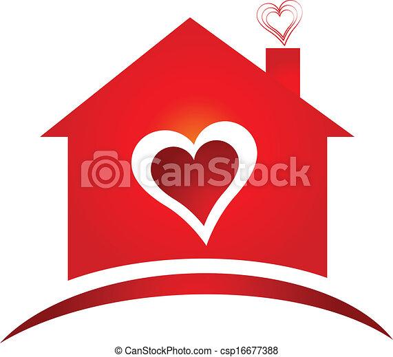 Logotipo cuore creativo disegno casa cuore casa for Casa disegno