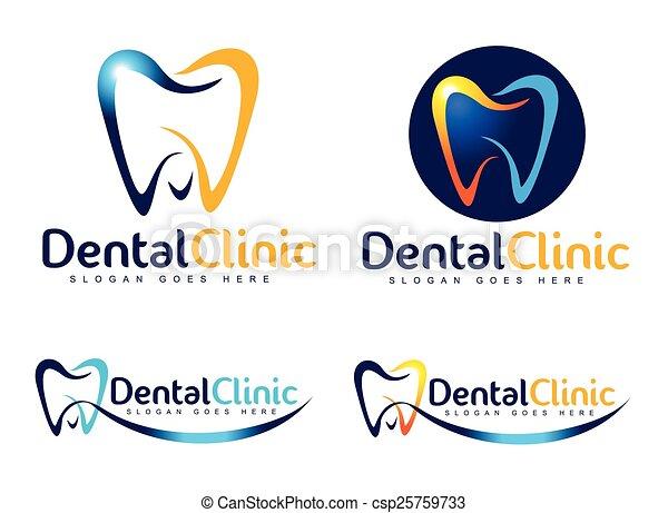 Logo de dentista dental - csp25759733