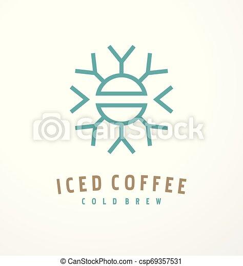 Diseño de logo de café helado - csp69357531
