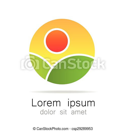 logotipo, ecológico, natural, paisagem, modelo - csp29289953