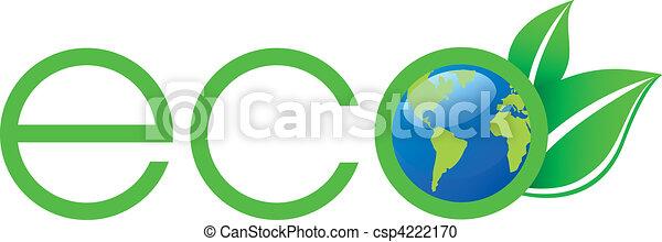 Logotipo ecológico verde - csp4222170