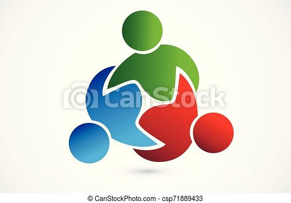 Gente de negocios de trabajo en equipo de Logo - csp71889433