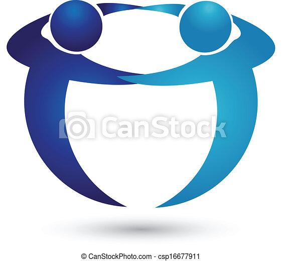 logotipo, equipe, pessoas negócio - csp16677911