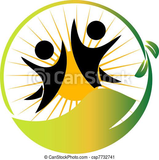 vector de logo de equipo naturaleza - csp7732741