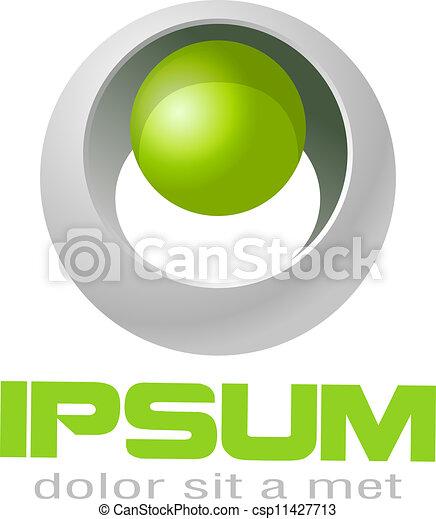 logotipo, fantascienza, style. - csp11427713