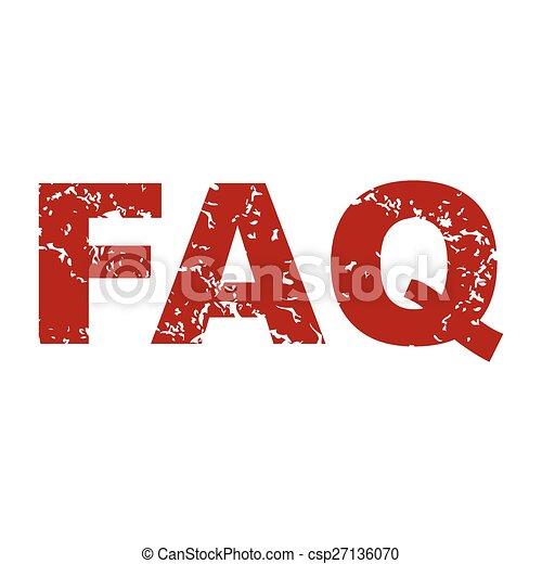 Logo rojo grunge faq - csp27136070