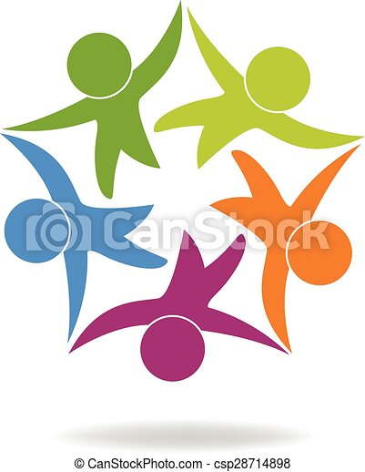 logotipo, feliz, trabalho equipe, pessoas negócio - csp28714898