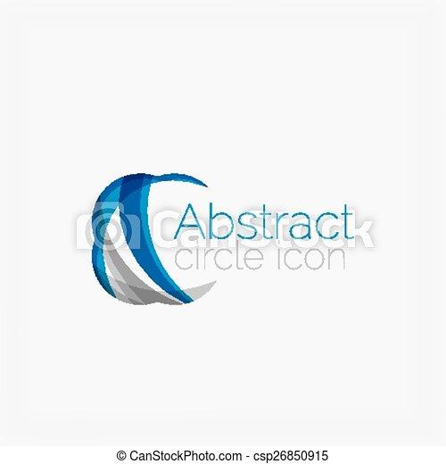 logotipo, forma, cerchio, astratto - csp26850915