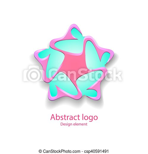 Logo en forma de estrella - csp40591491
