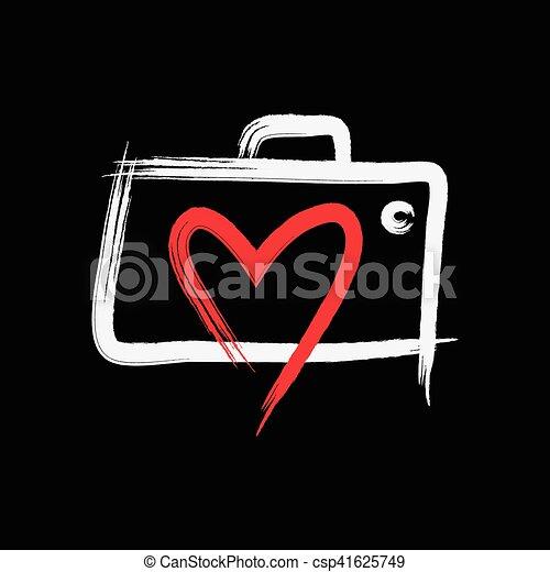 logotipo, fotografia, amore - csp41625749