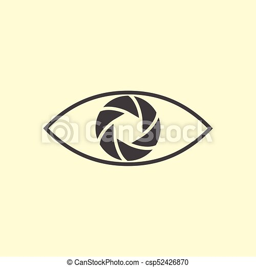 logotipo, fotografia, disegno, eye. - csp52426870