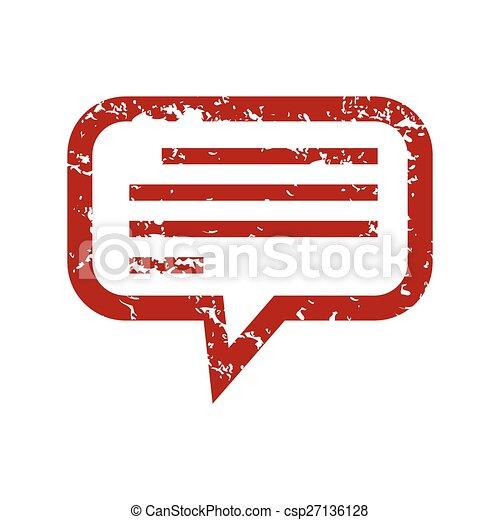 Logotipo de charla de grunge rojo - csp27136128