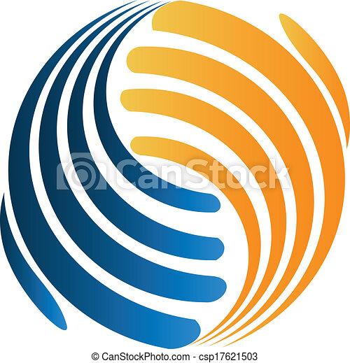 logotipo, handshaking, negócio - csp17621503