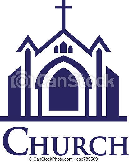 logotipo, igreja - csp7835691