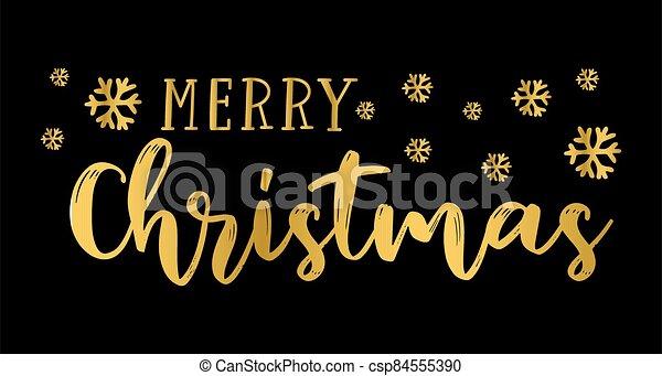 logotipo, invitación, flyer., alegre, o, header., etiqueta, navidad, cita, cartel, celebración, letras, bandera, tarjeta - csp84555390