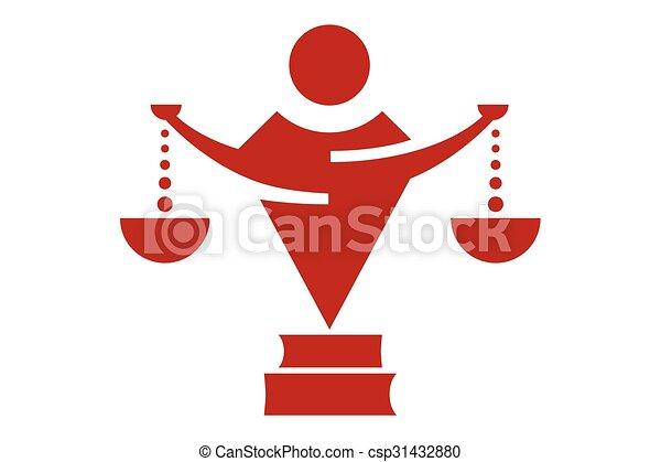 Logotipo de leyes - csp31432880