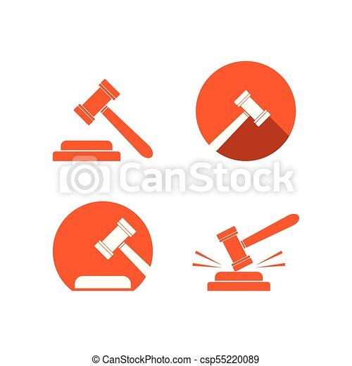 Colección de la plantilla de logo de martillo - csp55220089