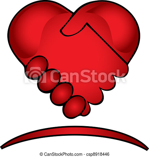 logotipo, mãos, criativo, abanar - csp8918446