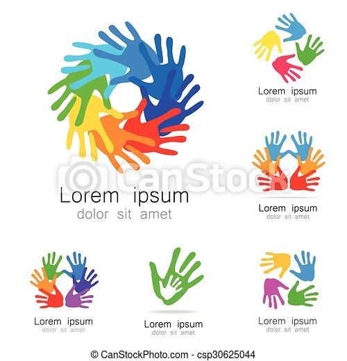 Logotipo de manos - csp30625044