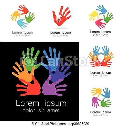 Logotipo de manos - csp30625030