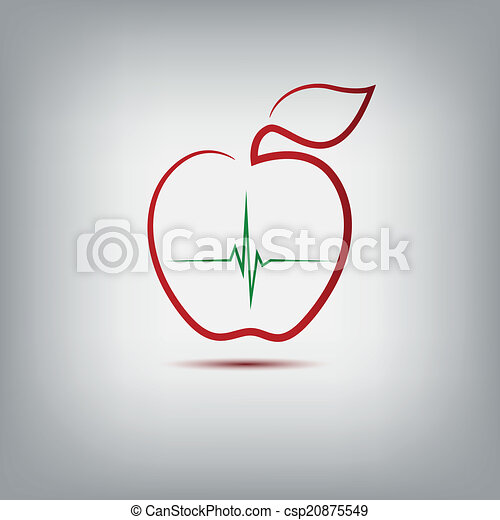 Logo de manzana - csp20875549
