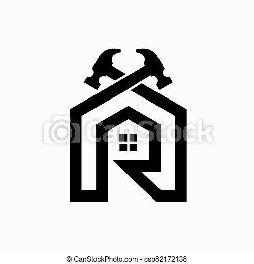 logotipo, mejora, hogar - csp82172138