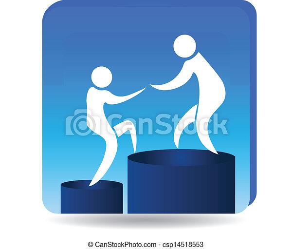 logotipo, metas, sucesso, escalando - csp14518553