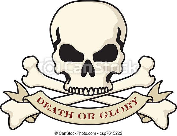 Logotipo de cráneo de muerte o gloria - csp7615222