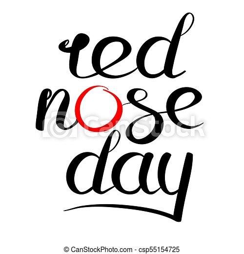 logotipo, nariz, vermelho, dia - csp55154725