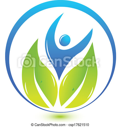 logotipo, natura, salute, persone - csp17621510
