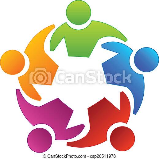 logotipo, pessoas, diversidade, trabalho equipe - csp20511978