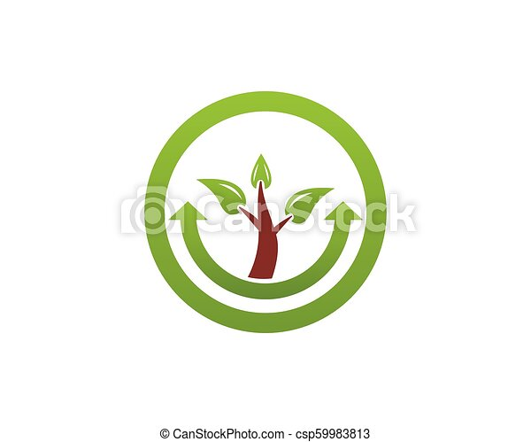 La plantilla de vector de logo de la naturaleza. - csp59983813