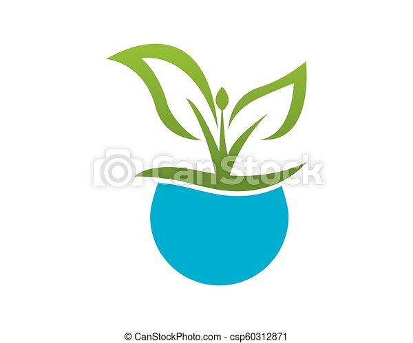 La plantilla de vector de logo de la naturaleza. - csp60312871