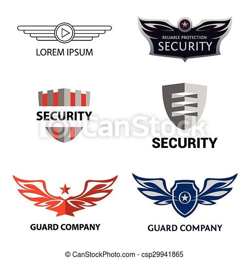 El logotipo de la organización de seguridad - csp29941865