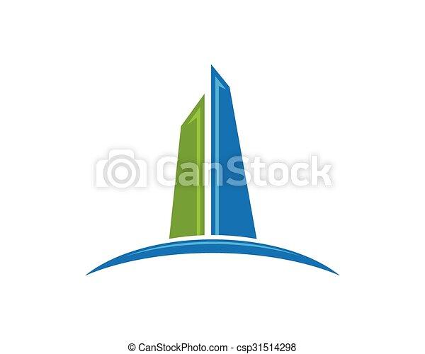 logotipo, propriedade, predios - csp31514298