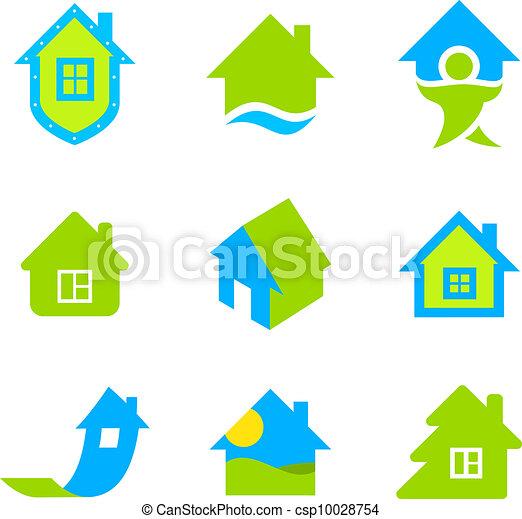logotipo, proprietà, reale, collezione - csp10028754