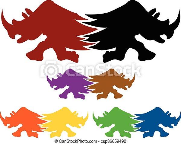 Logo de los gemelos rinocerontes - csp36659492
