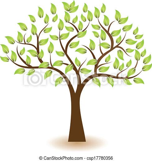 logotipo, símbolo, vetorial, árvore - csp17780356