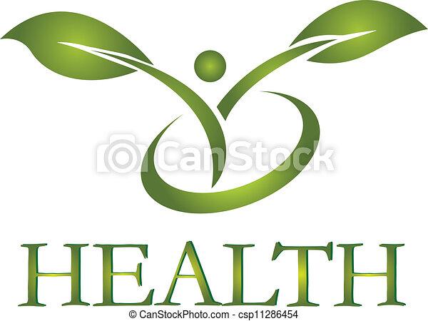 Vector de logo de vida saludable - csp11286454