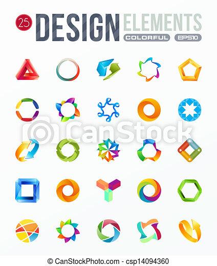 Icon set. Elementos de diseño de logo - csp14094360