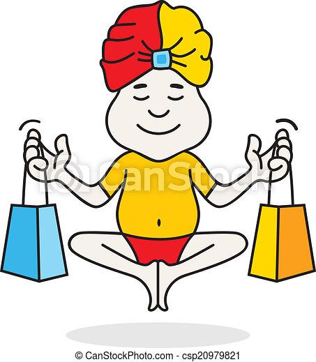 logotipo, shopping, perito, guru - csp20979821